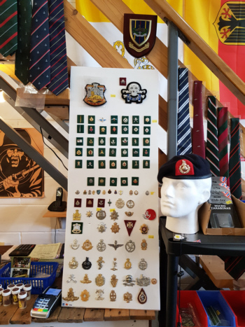 ties and badges